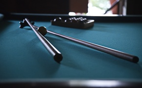 Wallpaper table, Billiards, cue