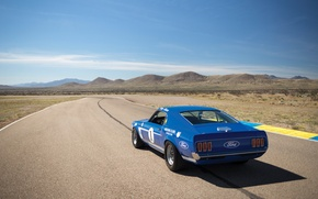 Picture blue, speed, Mustang, Ford, Muscle, 1969, Car, Race, car, Classic, classic, legend, Blue, Musclecar, 302, …