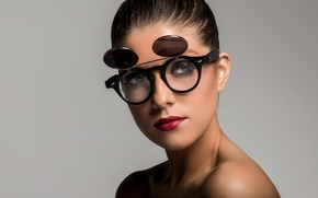 Picture eyes, face, style, background, hair, makeup, lipstick, glasses, lips, beauty, Victoria