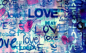 Wallpaper style, Love, labels, background, hearts, hearts, love, blue background, blue