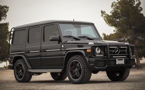 Picture black, Mercedes-Benz, SUV, the front