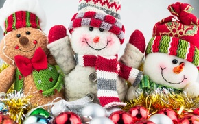 Picture New Year, Christmas, snowmen, Christmas, snowman, Merry