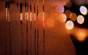 Picture glass, lights, background