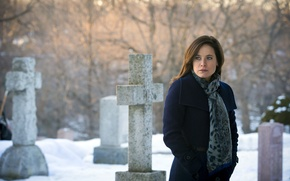 Picture look, crosses, actress, cemetery, Dr., the series, character, Hannibal, Hannibal, NBC, TV show, Alana Bloom, …