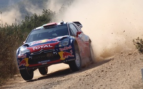 Wallpaper Auto, Dust, Sport, Machine, Speed, Day, Citroen, Car, Red Bull, DS3, WRC, Rally, Rally