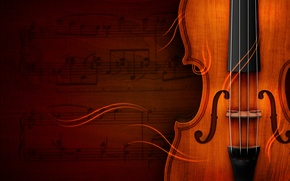 Picture music, violin, Notes