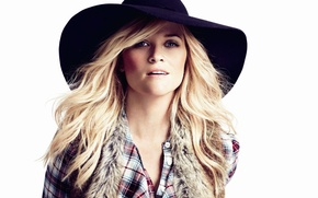 Picture portrait, hat, actress, blonde, Reese Witherspoon, Reese Witherspoon