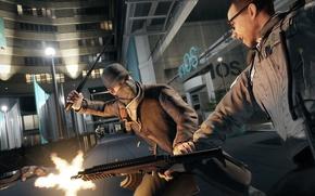 Picture gun, street, fight, cap, lane, Ubisoft, watch dogs