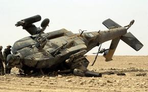 Wallpaper pustina, the crash, AH-64 Apache, Iraq