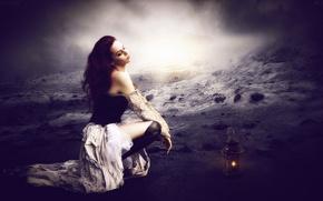 Picture dress, lantern, boots, twilight, dewasa