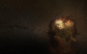 Picture stars, nebula, accumulation