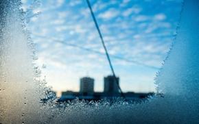 Picture pattern, window, frost