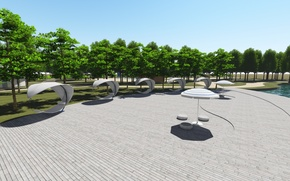 Picture Park, model, visualization, promenade, lumion