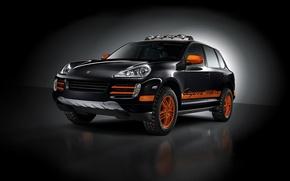 Wallpaper orange, black, tuning, Porsche