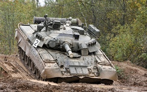 Picture Russia, polygon, T-80 UD, tank, military equipment
