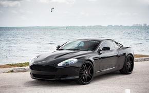 Picture Aston Martin, wheels, DB9, black, Forgiato
