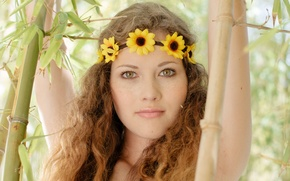 Picture eyes, look, wreath, Vanessa, Adel C