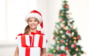 Picture gifts, children, child, Merry Christmas, New Year, child, smile, smile, little girl, girl, happy, children, …