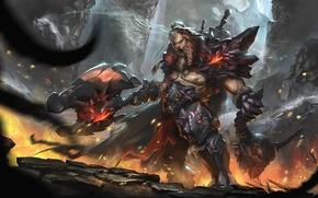 Wallpaper Blizzard, Art, Diablo 3, Warrior, Blizzard Entertainment, Fan Art, Demon, Barbarian, Armor, Video Game, Reaper ...