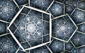 Picture metal, mosaic, art, fractal, figure, Titan