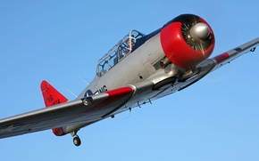 Picture the plane, BBC, North American, T-6 Texan, military historical club, during the second world war, …