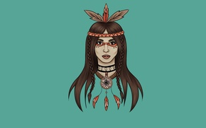 Picture girl, feathers, Indian, indian, Dreamcatcher, Indian, dreamcatcher