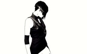 Wallpaper haircut, girl, silhouette
