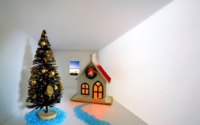 Wallpaper room, toys, Christmas, new year, winter