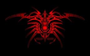 Picture red, black, pattern, ornament, symbol