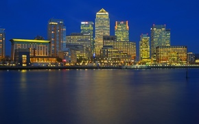 Picture night, lights, river, England, London, home