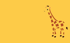 Wallpaper animal, Minimalism, giraffe