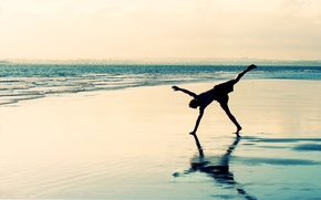 Picture sand, sea, beach, reflection, coast, people, dal, horizon, surf