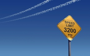 Picture the sky, sign, speed
