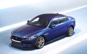 Picture blue, Jaguar, Sport, XE R