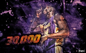 Picture Basketball, Purple, Los Angeles, Lakers, Kobe Bryant, Player, Lacers