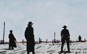 Wallpaper the film, silhouette, cowboy, Western