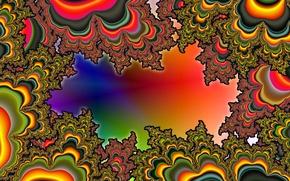 Picture line, pattern, paint, divorce, fractal, spot