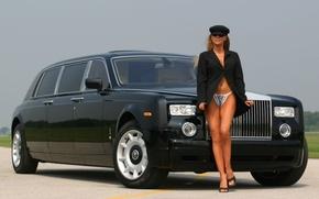 Wallpaper Phantom, Airport, Rolse Royce, Driver