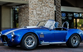 Picture Shelby, Blue, Front, Cobra, Building, 427