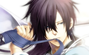 Picture sword, samurai, tape, fabric, guy, Hakuouki, Saitou Hajime, Shinsengumi Kitano