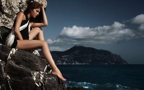 Picture Girl, Model, Shooting, Sea, Fashion, Lidia, Moda