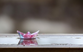Picture macro, background, Paper Boat