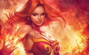 Picture Girl, Game, Game, Defense of the Ancients, Dota 2, DotA 2, Lina