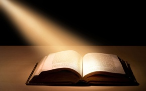Wallpaper book, rays, light, the Bible, book