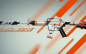 Picture Weapons, Gun, Valve, Counter Strike, Steam, Skin, Weapon, CS:GO, Global Offensive, Workshop, Asiimov, Coridium, M4A4-S|Asiimov