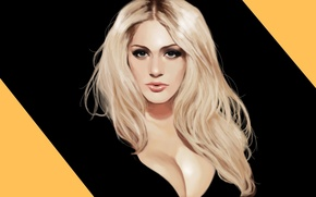 Picture girl, blonde, girl, art, model, Nicole Neal, Nicole Neal, speedpaint