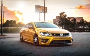 Picture volkswagen, gold, tuning, Volkswagen, passat, Passat