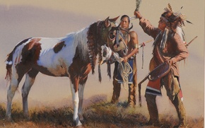 Picture picture, painting, painting, John Fawcett, Blessing The Young Pony
