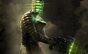 Picture weapons, helmet, male, Dead Space, Isaac Clarke, Isaac Clarke