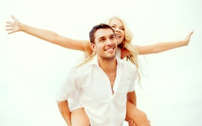 Wallpaper pair, couple, joy, happy, happiness, love, romance